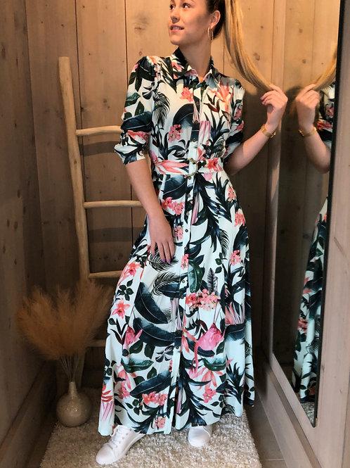 Maxi jurk K DESIGN Tropic aqua