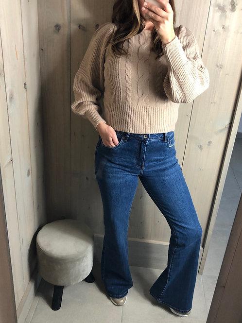TOXIK Flared blue jeans