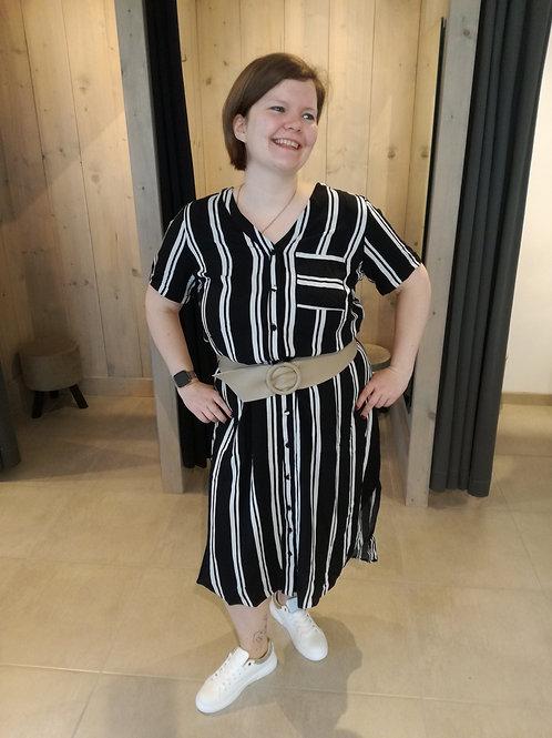 ONLY Carmakoma Cardenizia stripe dress
