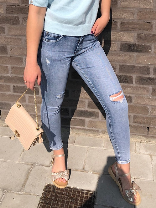 TOXIK Blue ripped jeans