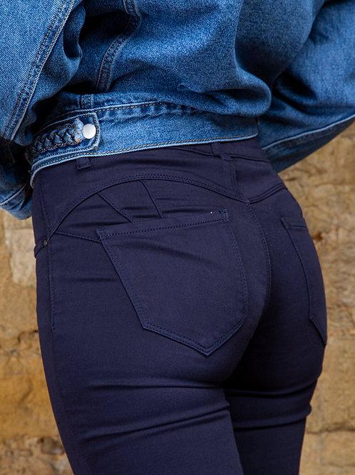 TOXIK regular push up navy jeans