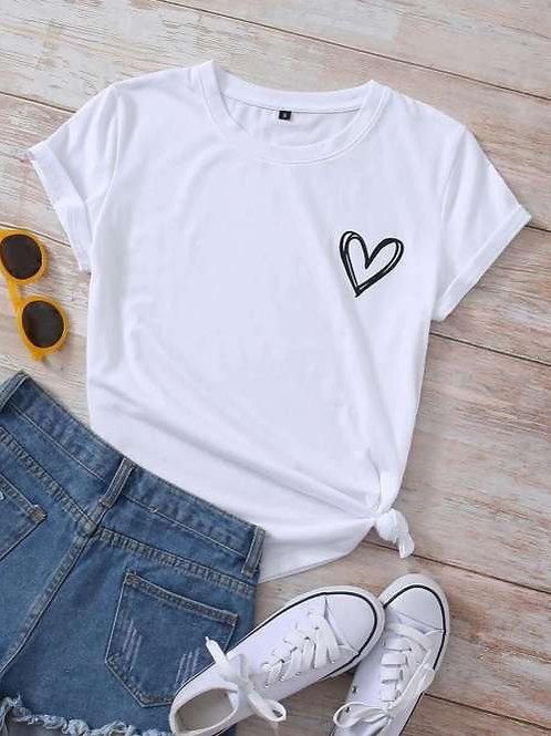 T-shirt met hartje