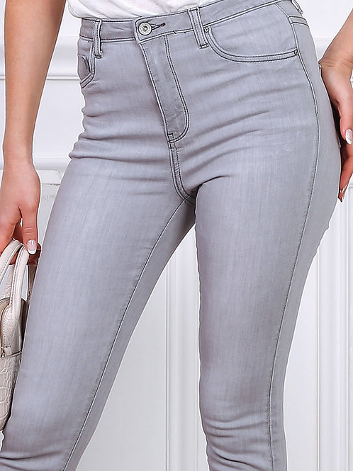 TOXIK high waist light grey skinny jeans