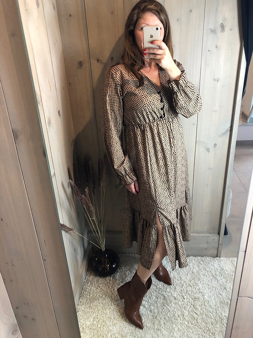 Maxi jurk Zena camel