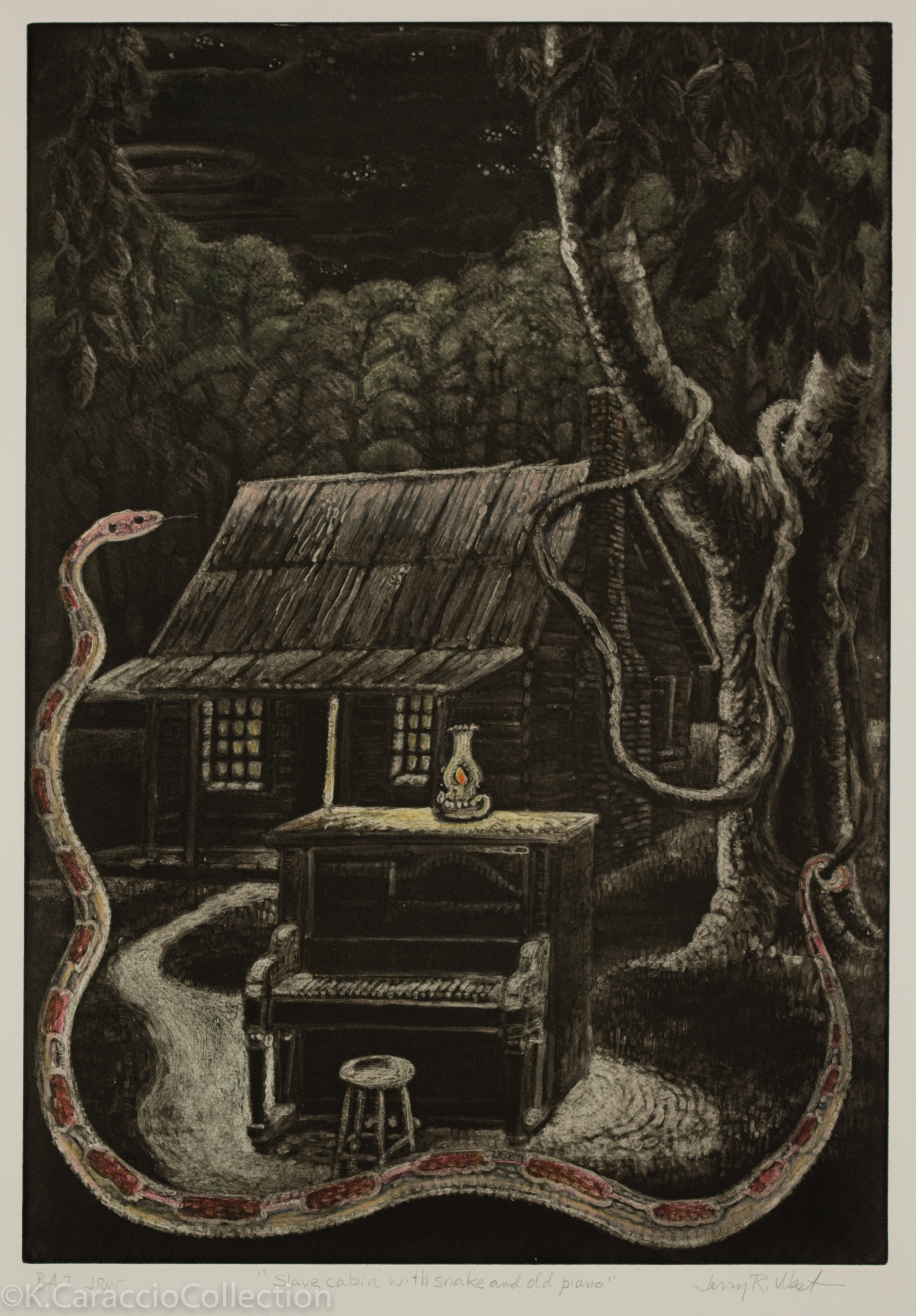 Slave Cabin with Snake and Old Piano, 1999