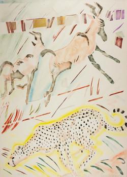 Hartibeests & Cheetah, 1983