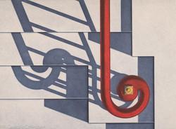 W 11th Street I, Red Rail, 1982