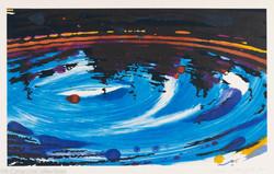Whirpool (Blue diptych, left), 2005