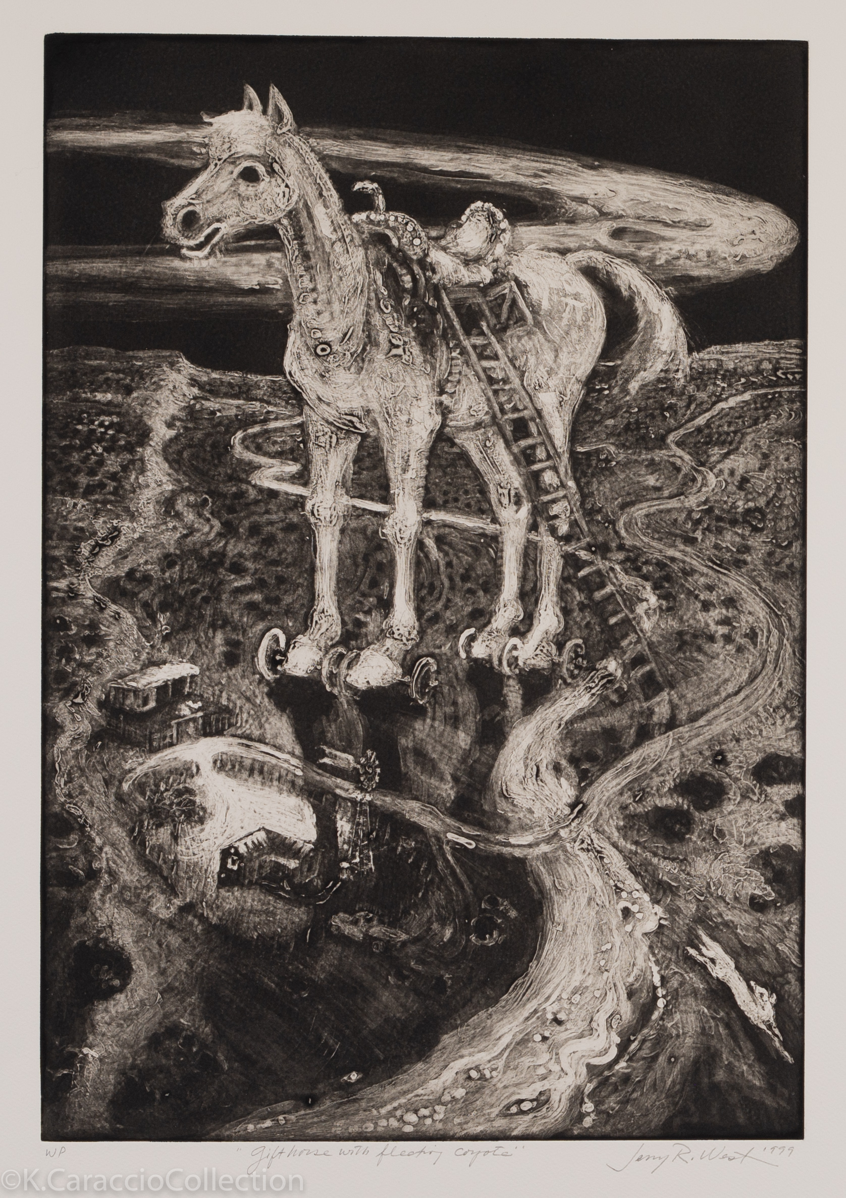 Gift Horse with Fleeting Coyote, 1999