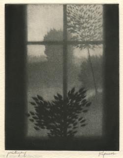 Window with Dark Leaves, 1997