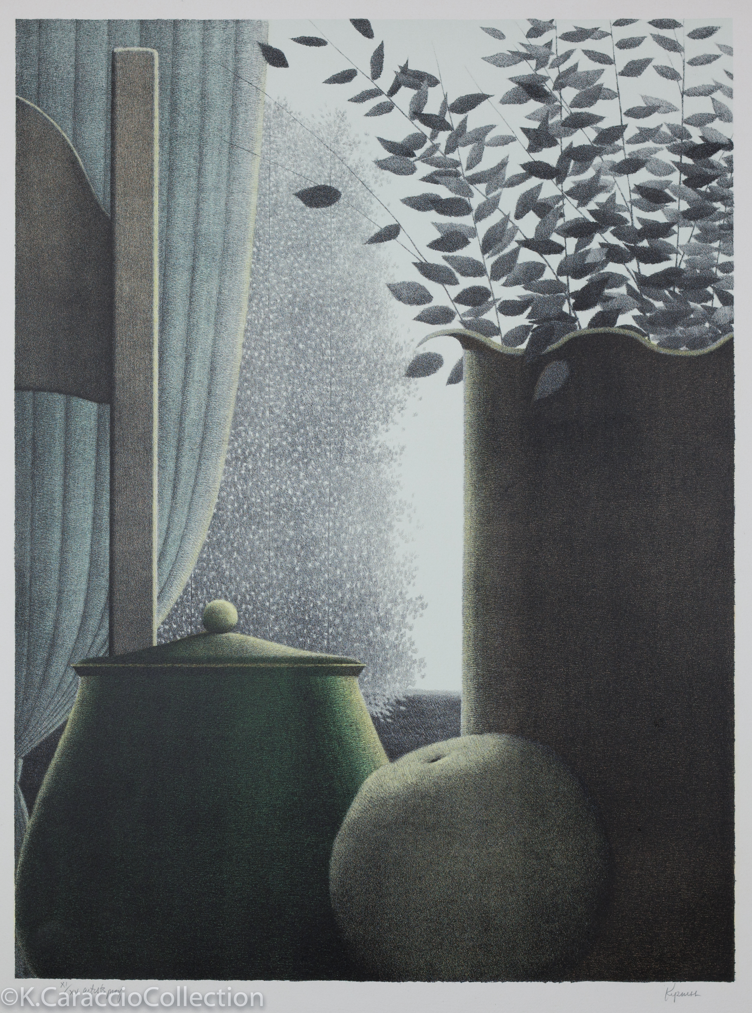Curtain and Leaves, 1978