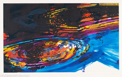 Whirpool (Blue diptych, right), 2005