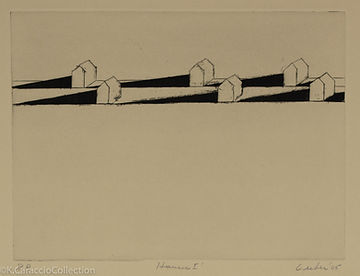 2 Leiber, Gerson_'Houses I'_2005_etching