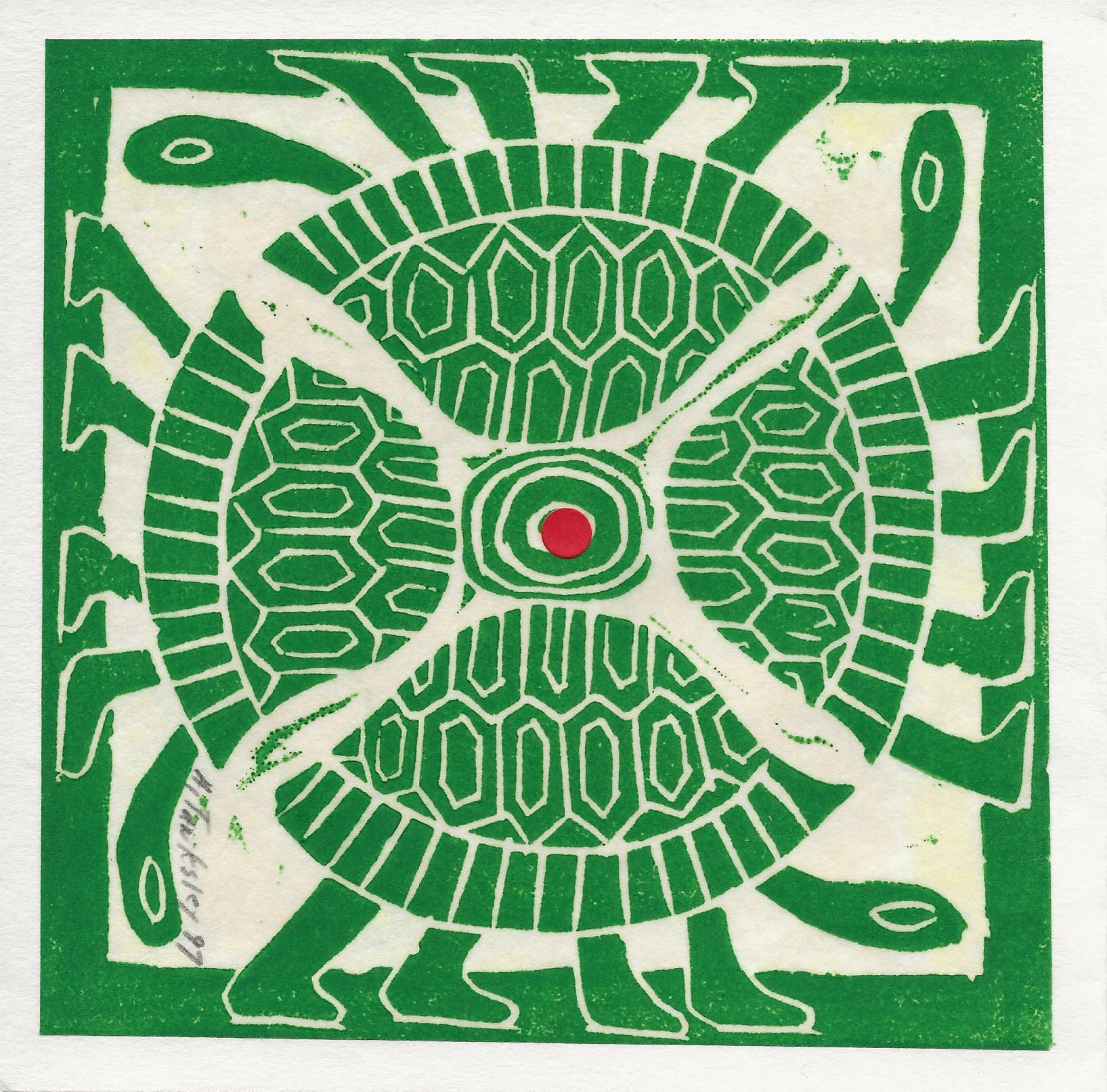 Four green turtles, 1997