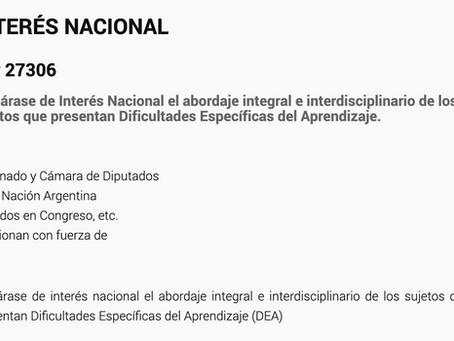 Ley 27306 Declárase de Interés Nacional el abordaje integral e interdisciplinario de los sujetos que