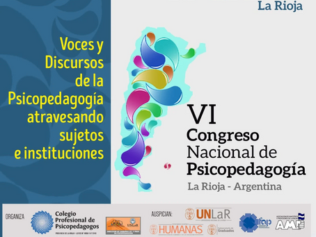 VI Congreso nacional de psicopedagogía - La Rioja