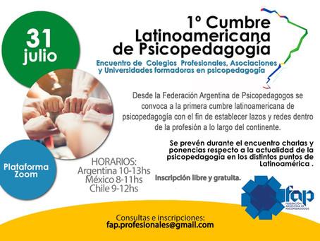 """Primer Cumbre Latinoamericana de Psicopedagogía"""