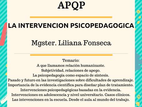 La intervención psicopedagogica