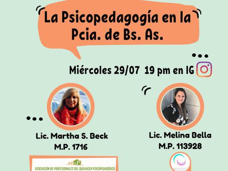 """""""La psicopedagogía en la Provincia de Buenos Aires"""""""