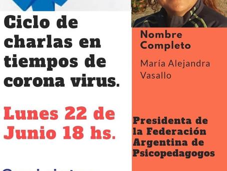 """""""Charlas en tiempos de coronavirus"""""""