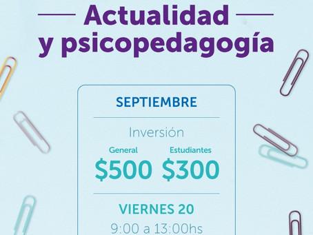 Actualidad y psicopedagogia: