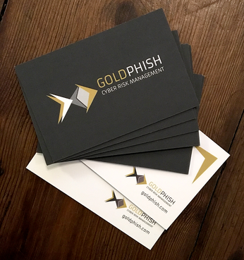 GoldPhish Cyber Risk Management Business Cards