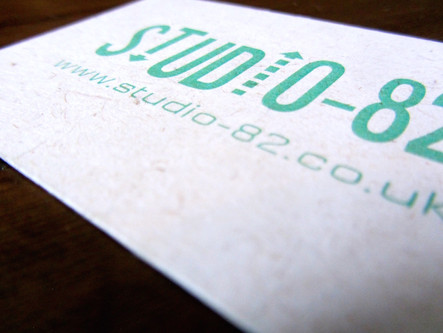 Studio-82 textured business card