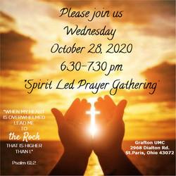 Spirit Led Prayer Gathering October 28,