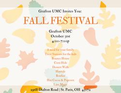Grafton UMC  FALL FESTIVAL