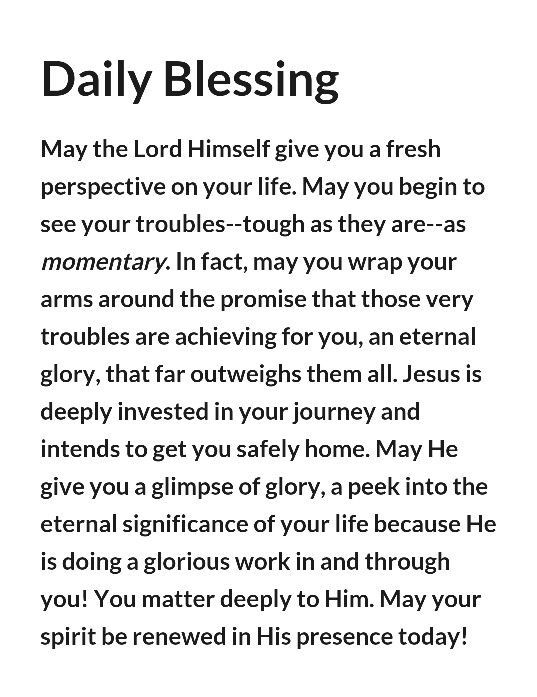 Daily Blessing