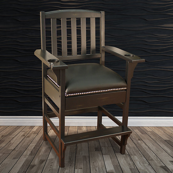King Chair in Peppercorn