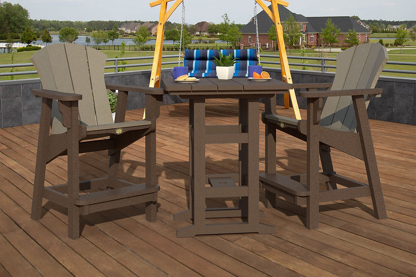 Coastal Counter Height Set in Chocolate and Weathered Wood