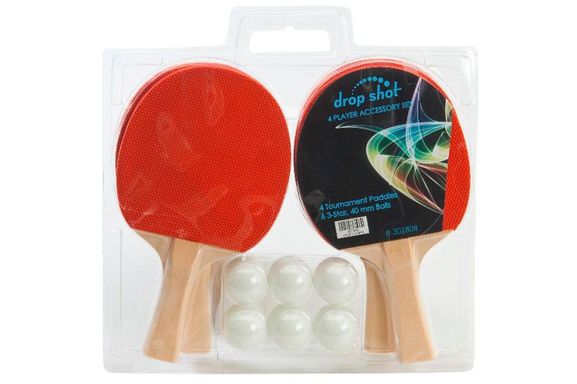 4 Paddle Set with Balls