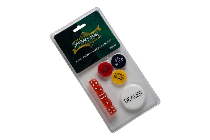 Poker Button and Dice Set