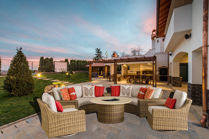 Cameo Curved Fire Pit Seating Group