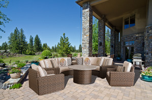 Amelia Curved Fire Pit Seating Group