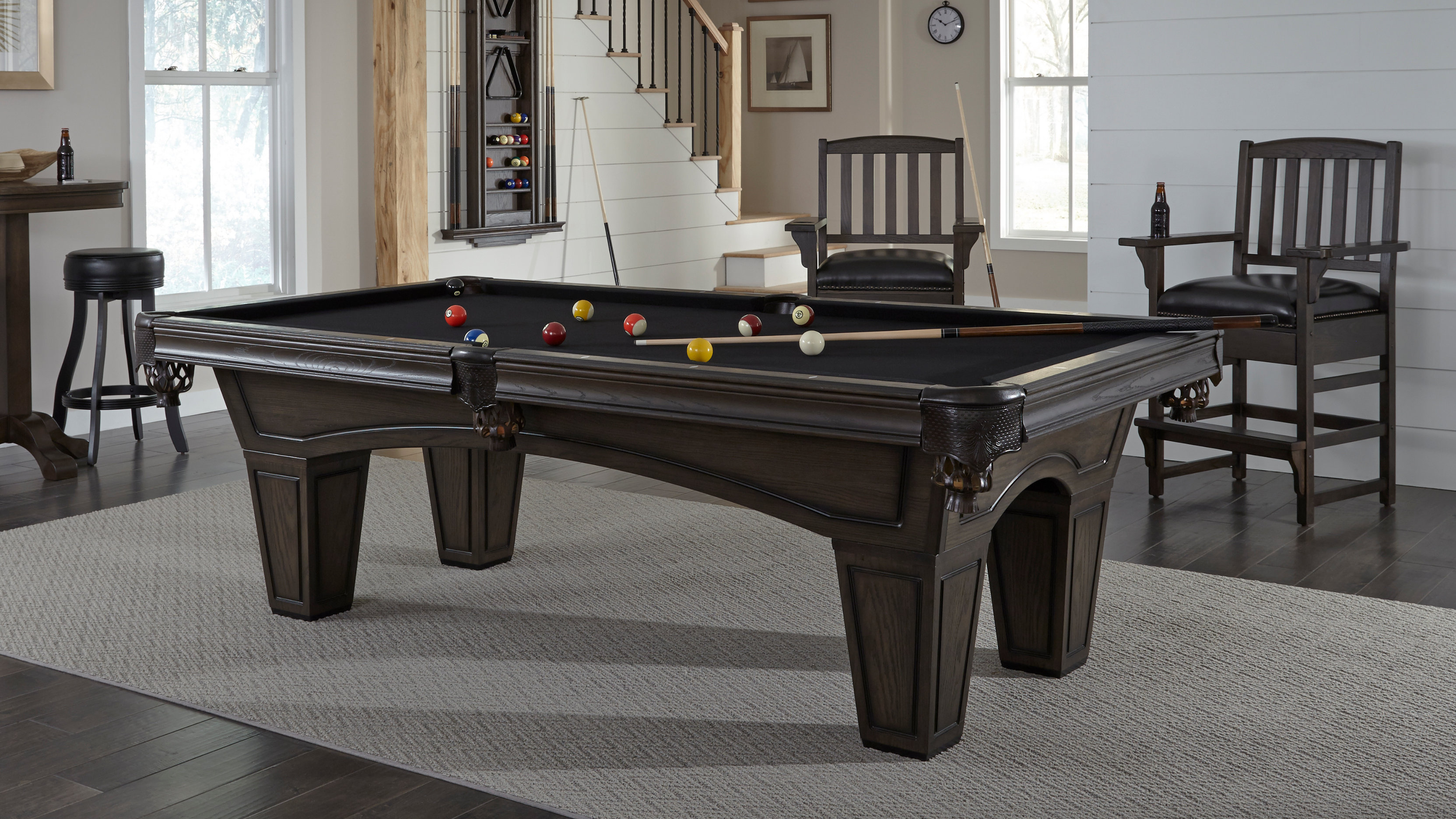 How To Install A Pool Table Slate Installation Home Billiards >> Austin Pool Table American Heritage Bi