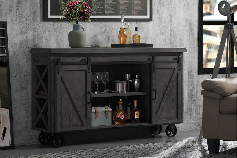 Gateway Bar Cart in Charcoal