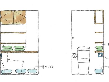 猫のトイレの場所どこに?猫の匂い、猫砂置場の為にこんな工夫してみた。