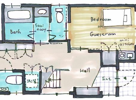 「ウイルスに対する、家族間で隔離を簡単にできる家」「ワーク in クローゼット」  アフターコロナの住まい:05 06