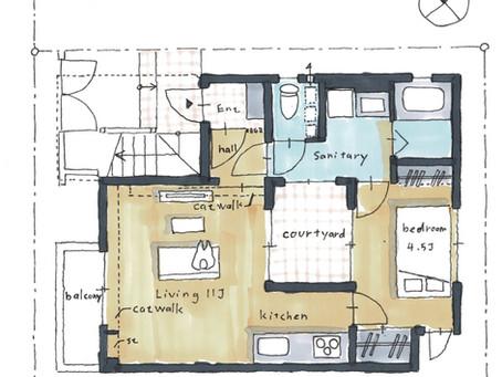 猫と住む中庭のある集合住宅、どんな考え方の経路をたどって、設計が進み完成したのか?施主と設計者のコミュニケーションの変遷。