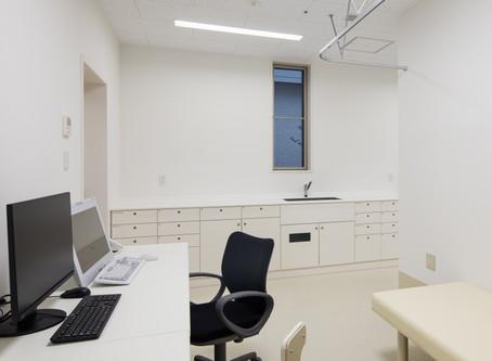 クリニック、診察室の家具は細かく
