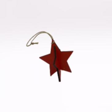 """Estrela de Natal de pendurar """"vermelho"""""""