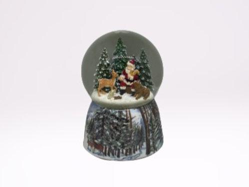 Globo de Neve Natal - Pai Natal na Floresta