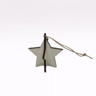 "Estrela de Natal de pendurar ""branco"""