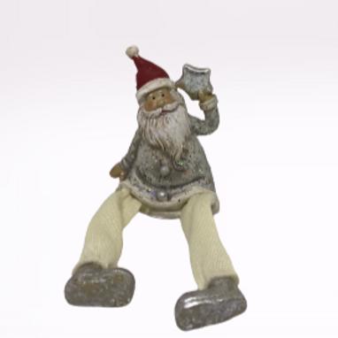 Pai Natal cinzento com estrela na mão