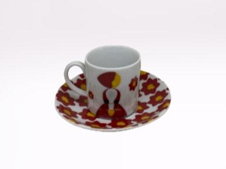 Chávena de café Minhotos (vermelha)
