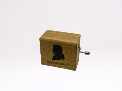 Caixa de música em madeira Mozart
