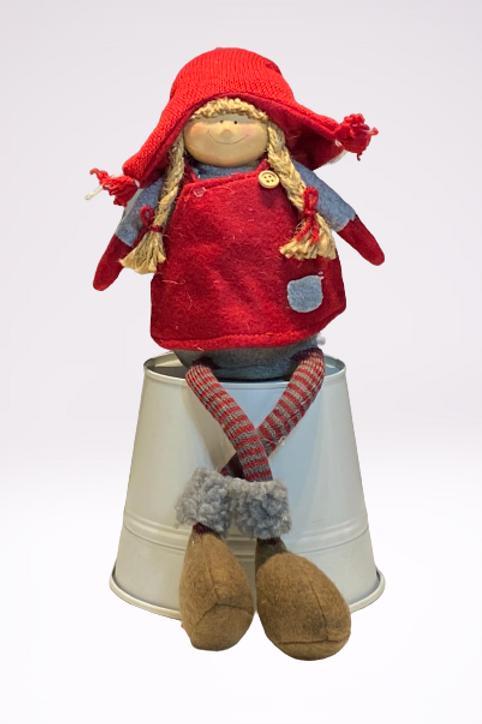 Boneca em tecido com avental