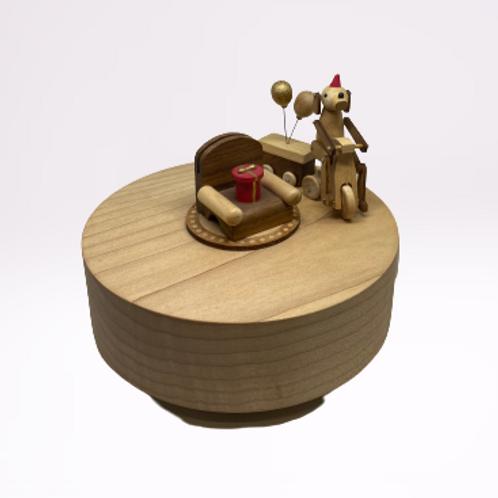 Triciculo de corda em madeira Natal